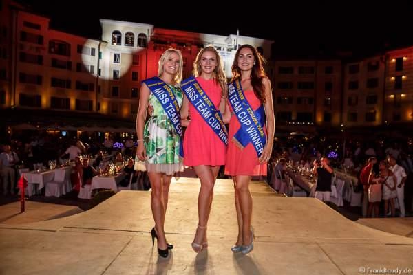 Nicola Koska (Miss Internet 2015), Olga Hoffmann (Miss Germany 2015) und Sandra Kohns (Miss Südwestdeutschland 2015) - 1. Europäischer Missen TEAM-Cup im Europa-Park