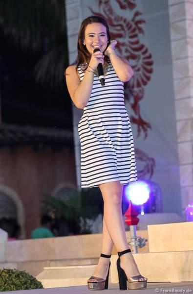 Viviana Grisafi - Auftritt - 1. Europäischer Missen TEAM-Cup im Europa-Park