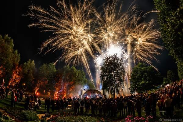 Feuerwerk bei der Sommernacht 2015 auf der Gartenschau in Kaiserslautern