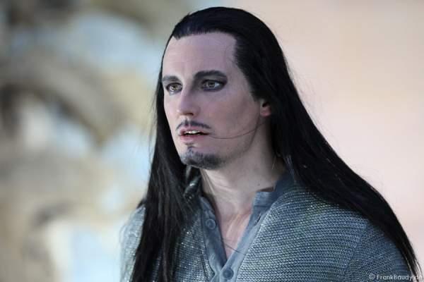 Max Urlacher als Hagen bei Gemetzel - Nibelungen-Festspiele 2015 in Worms
