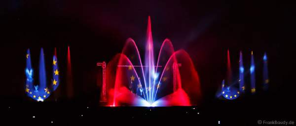 Wasserspiele bei Aquatique Show ALSACE - 70 Jahre Frieden - Art et Lumière, Furdenheim 2015