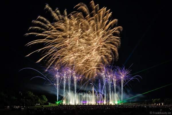 Furdenheim feiert mit Show ALSACE 70 Jahre Frieden  Finales Feuerwerk Show ALSACE - 70 Jahre Frieden - Art et Lumière, Furdenheim 2015