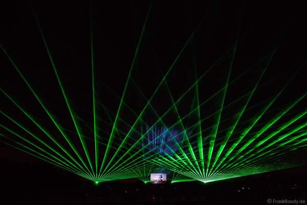 Wasserspiele und Laser bei Aquatique Show ALSACE - 70 Jahre Frieden - Art et Lumière, Furdenheim 2015