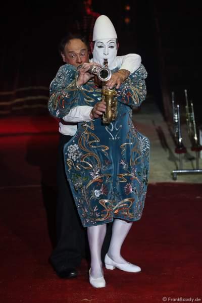Die Clowns Yann und Hector (Maurin) Rossi von Les Rossyann bei der Show Salto Vitale des Circus Roncalli
