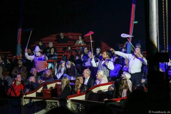 Die Clowns bei Salto Vitale des Circus Roncalli