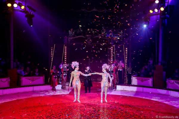 Alexandra & Kelly Saabel beim Finale bei Salto Vitale des Circus Roncalli