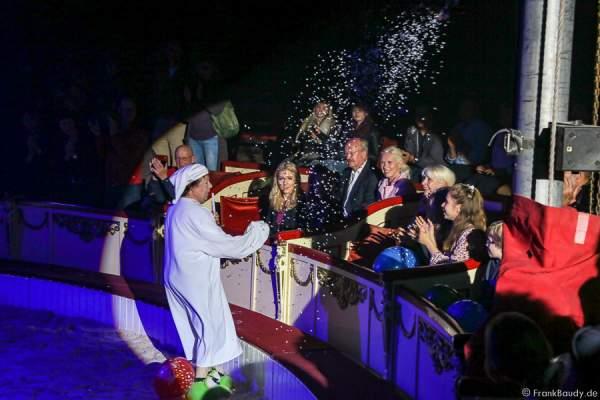 Komiker Sergej Maslennikov bei der Show Salto Vitale des Circus Roncalli