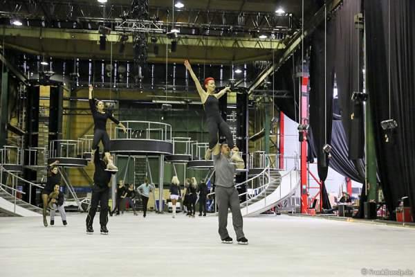 Daria Perminova & Evgeny Belyanin bei den Proben von BELIEVE von Holiday on Ice