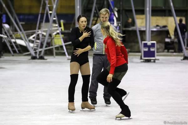 Szenenprobe mit Robin Johnstone und Christopher Dean für die neue Show BELIEVE von Holiday on Ice