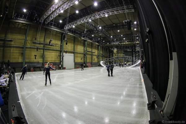 Die Eisfläche in Utrecht für die Proben von BELIEVE von Holiday on Ice