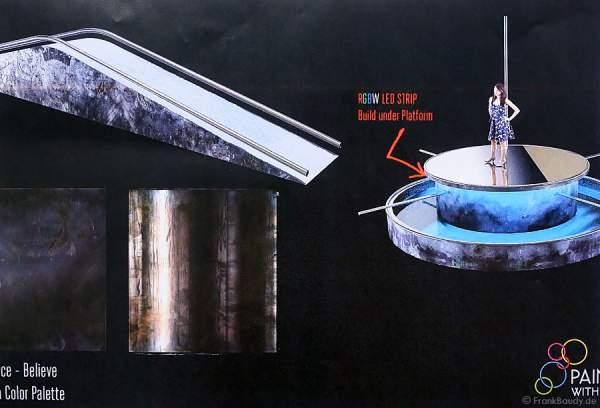 Skizzen der Kulisse für die Show BELIEVE von Holiday on Ice