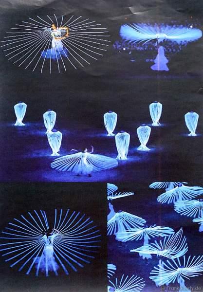 Kostümentwürfe für die leuchtkostüme für die Show BELIEVE von Holiday on Ice