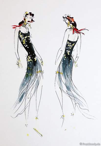 Skizzen der Kostüme für die Show BELIEVE von Holiday on Ice