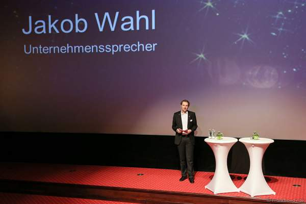 Unternehmenssprecher Jakob Wahl bei der Pressekonferenz Europa-Park Winter 2015/2016