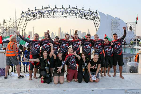 ZAPATA-Racing Flyboard-Team at the 44th UAE National Day 2015 in Dubai Design District