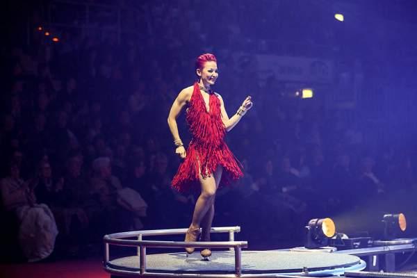 Daria Perminova bei der Eisshow BELIEVE von Holiday on Ice