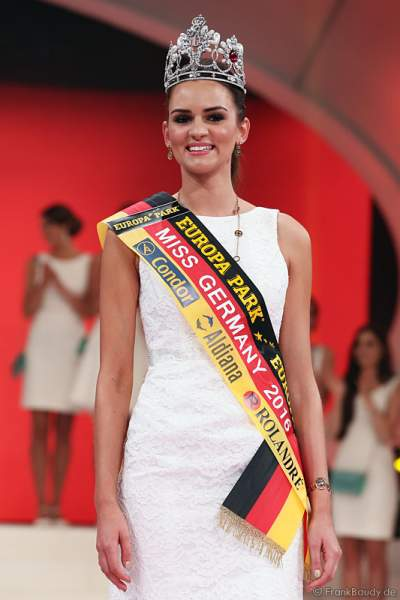 Lena Bröder gewinnt die Wahl zur Miss Germany 2016 im Europa-Park