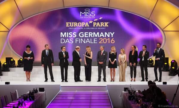 Vorstellung der VIP-Jury bei der Miss Germany 2016 Wahl im Europa-Park in Rust