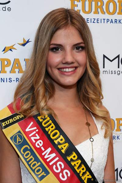 Vize-Miss Germany 2016 Francesca Orru bei der Miss Germany 2016 Wahl im Europa-Park