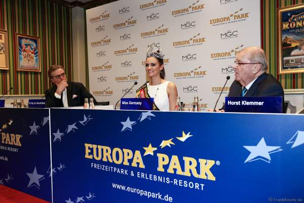 "Pressekonferenz mit Lena Bröder, Miss Germany 2016 im Konferenzsaal ""Circus Celebration"" im Europa-Park Confertainment Center"