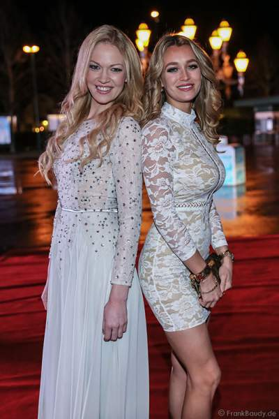 Jana Hartmann und Carina Lutz bei der Miss Germany 2016 Wahl im Europa-Park am 20.02.2016