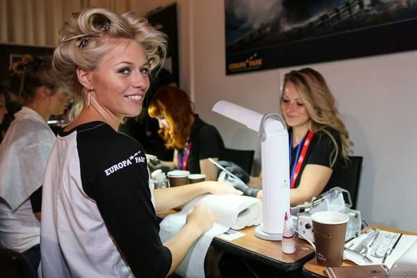 Eva Naulin (Miss Mecklenburg-Vorpommern 2016) Backstage bei den Vorbereitungen zur Miss Germany 2016 Wahl