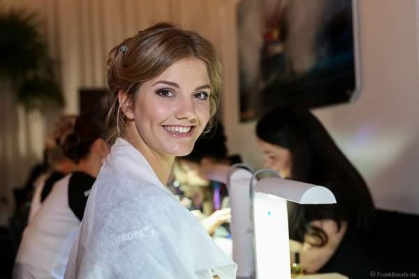 Vize-Miss Germany 2016 Francesca Orru (Miss Schleswig-Holstein 2016) Backstage bei den Vorbereitungen