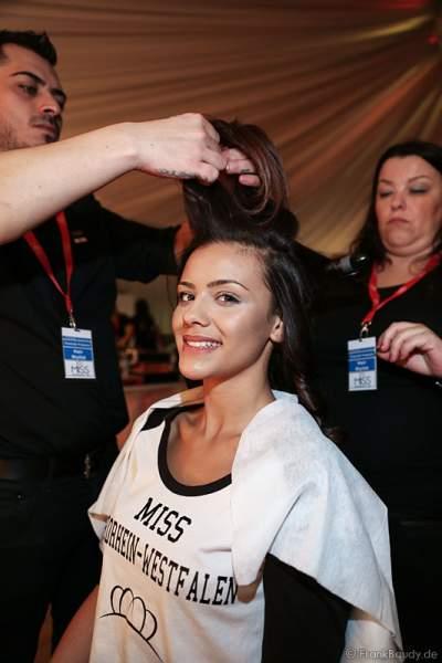 Dalina Staszewski (Miss Nordrhein-Westfalen 2016) Backstage bei den Vorbereitungen zur Miss Germany 2016 Wahl