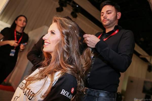 Dominika Starostik (Miss Süddeutschland 2016) Backstage bei den Vorbereitungen zur Miss Germany 2016 Wahl