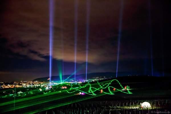 Himmelsstrahler und Laserfächer bei der Weinbergnacht 2016 in Bad Dürkheim