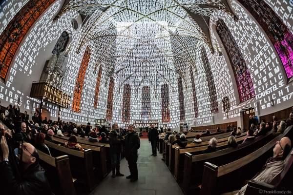 Luminale 2016 - Frankfurt, Evangelischen Stadtkirche St. Katharinen an der Hauptwache mit Installation Licht-Beugung
