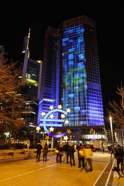 Die Europäische Zentralbank (EZB) bei der Luminale 2016 in Frankfurt