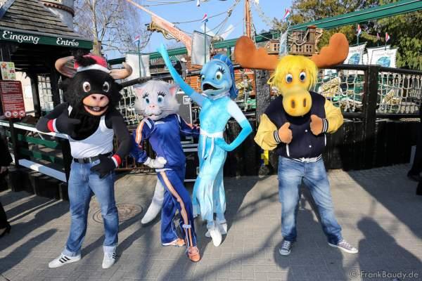 Rustis - so heißt die neue Band der holländischen Katze Antje, dem griechischen Delphin Helena, dem spanischen Stier Carlos und dem schwedischem Elch Erik im Europa-Park