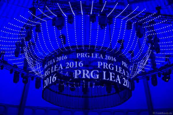 Saaldekoration beim PRG LEA 2016 - Live Entertainment Award in der Festhalle in Frankfurt