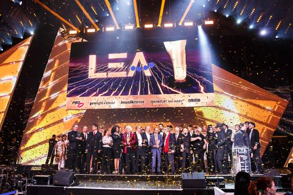 Schlussbild beim PRG LEA 2016 - Live Entertainment Award in der Festhalle in Frankfurt