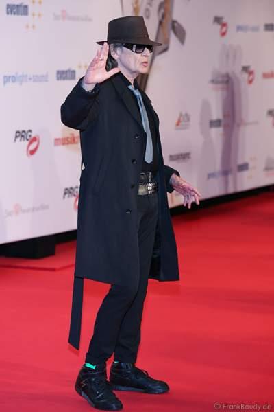 Udo Lindenberg auf dem roten Teppich beim PRG LEA 2016 - Live Entertainment Award in der Festhalle in Frankfurt