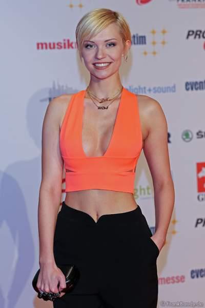 Farina Behm, Miss Sachsen 2016 beim PRG LEA 2016 - Live Entertainment Award in der Festhalle in Frankfurt