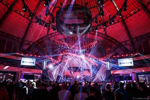 A01 Imposante Demo-Show während der Prolight + Sound 2016 in der Festhalle Frankfurt