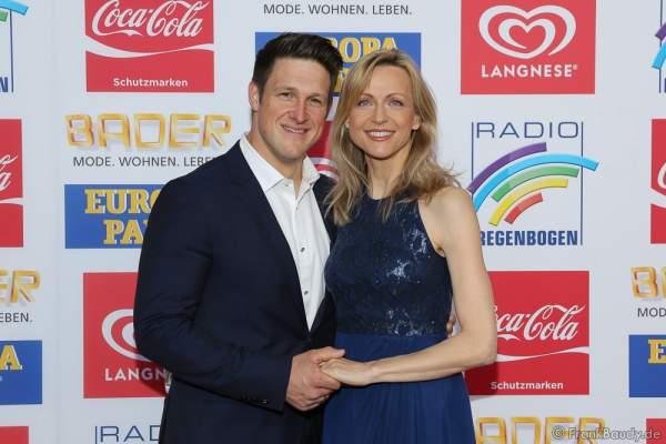 Matthias Steiner mit Ehefrau Inge Steiner beim Radio Regenbogen Award 2016 am 22. April 2016 im Europa-Park in Rust