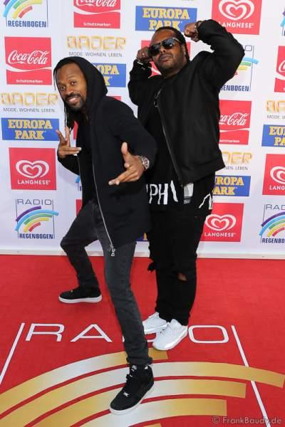 Madcon (Tshawe Baqwa und Yosef Wolde-Mariam) beim Radio Regenbogen Award 2016 am 22. April 2016 im Europa-Park in Rust