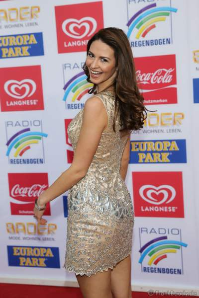 Doris Schmidts, Miss Germany 2009 beim Radio Regenbogen Award 2016 am 22. April 2016 im Europa-Park in Rust