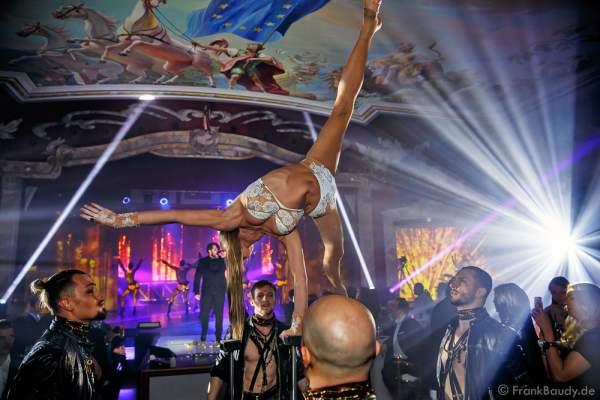 Marina Sakhokiia bei der Premiere der neuen Abendshow Night.Beat.Angels am 29. April 2016 im Europa-Park in Rust