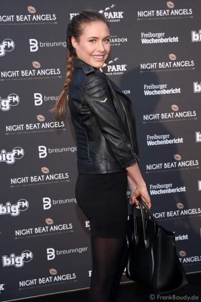 Alena Gerber bei der Premiere der neuen Abendshow Night.Beat.Angels am 29. April 2016 im Europa-Park in Rust