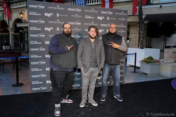 David Banks & Ruben Rawdriguez bei der Premiere der neuen Abendshow Night.Beat.Angels am 29. April 2016 im Europa-Park in Rust
