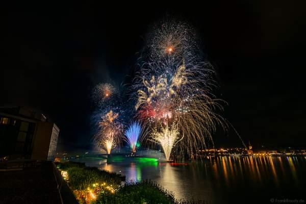 Großes Feuerwerk mit einer Lasershow bei den Mainzer Sommerlichter 2016