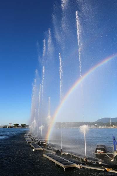 Mobile Wassershow am Tag beim Geneva Lake Festival 2016 - Schweiz