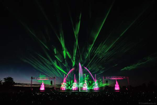 """Große Wassershow mit Laser bei Art et Lumière 2016 """"Best of"""" aus über 30 Jahren Aquatique Show in Furdenheim"""