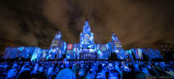 3D video mapping - Circle of Light festival 2016 - opening ceremony - main building of M.V. Lomonosov Moscow State University