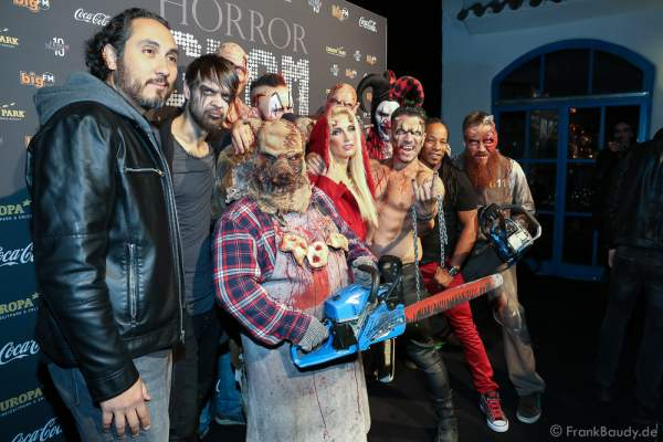 Marc Terenzi mit Team bei der 2. Horror Glam Live Night im Europa-Park Rust am 02.10.2016