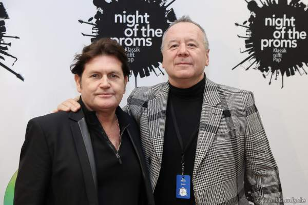 Simple Minds mit Charlie Burchill und Jim Kerr bei der Pressekonferenz zur Premiere von Night of the Proms 2016 in der SAP Arena Mannheim